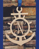 Wheel & Anchor with Single Letter Monogram