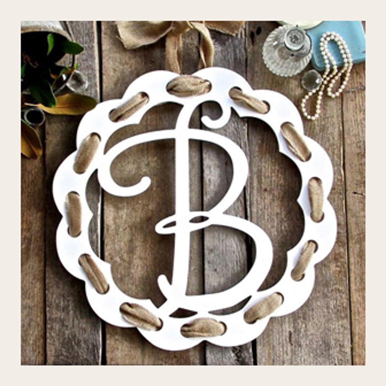 floral door hanger Monogram door hanger letter door hanger spring door hanger summer door hanger initial door hanger