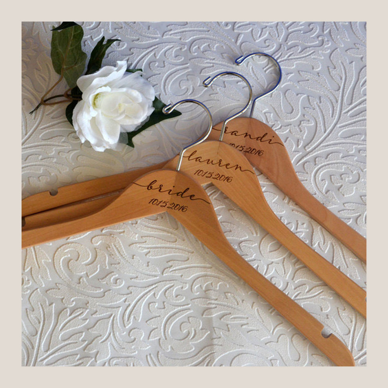 Wedding Dress Hanger Gift Set