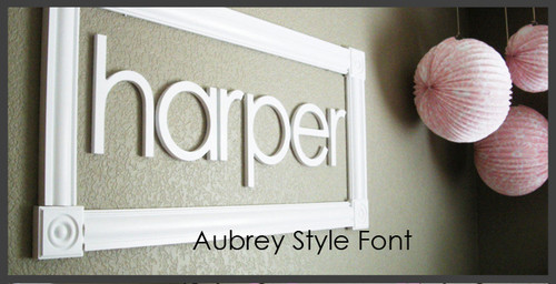 Wooden Letters for Nursery Decor Unconnected