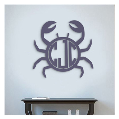Wooden Crab Monogram Letters