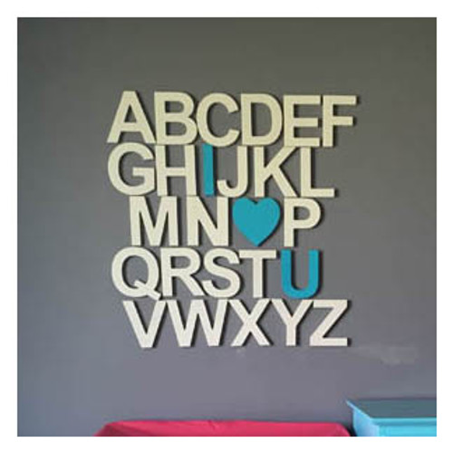 Wooden Alphabet Letters Set