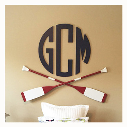 Circular Monogram Unconnected Wall Hanging Letters