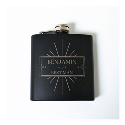 Engraved 6 oz Wedding Flask FD041