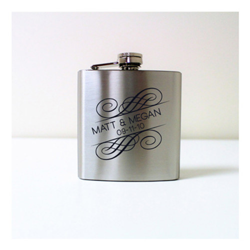 Engraved 6 oz Wedding Flask FD049