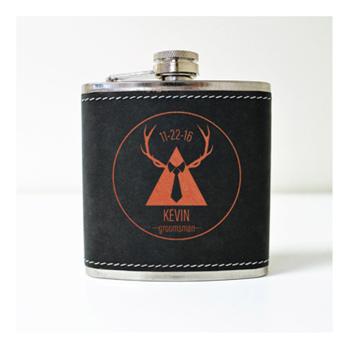 Engraved 6 oz Wedding Flask FD050