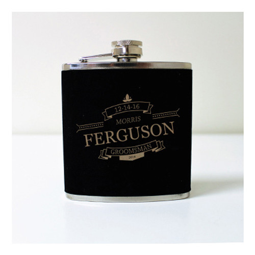Engraved 6 oz Wedding Flask FD054