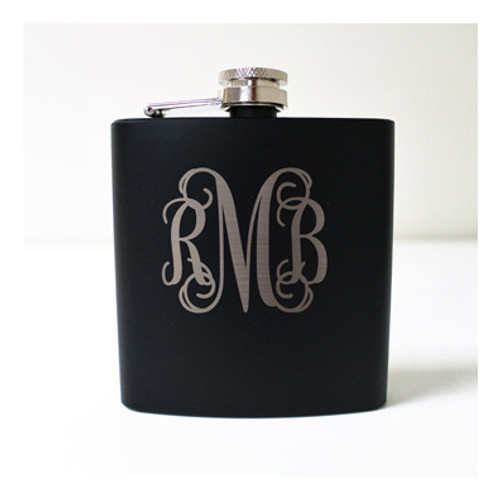 Engraved 6 oz Wedding Flask FD055