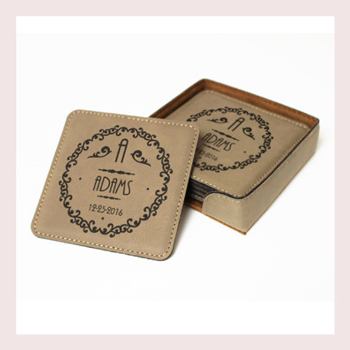 Coaster Leather Square CD026