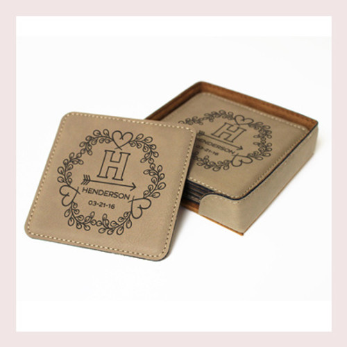 Coaster Leather Square CD030