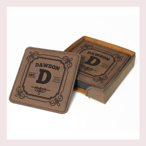 Coaster Leather Square CD031