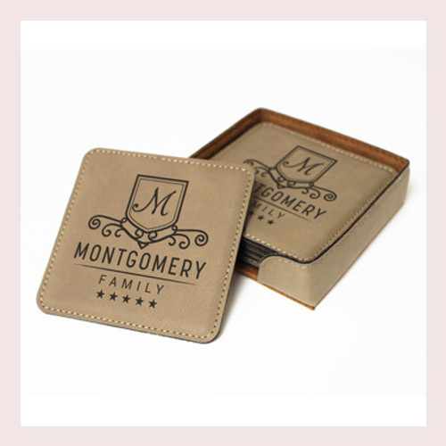 Coaster Leather Square CD034