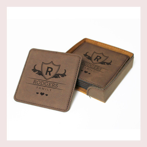 Coaster Leather Square CD038