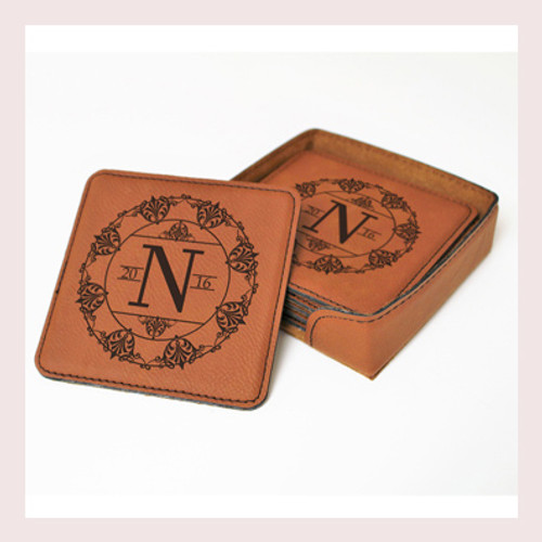 Coaster Leather Square CD039