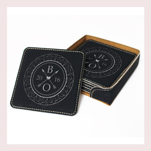 Coaster Leather Square CD040