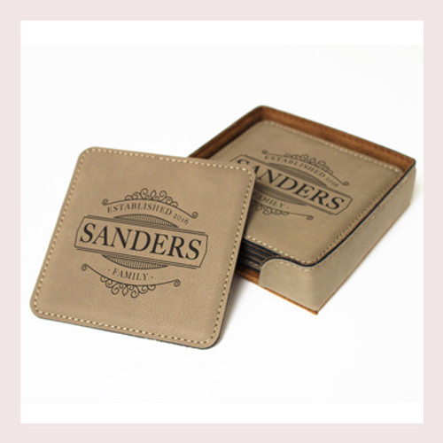Coaster Leather Square CD041