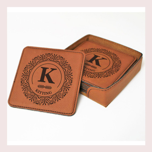 Coaster Leather Square CD042