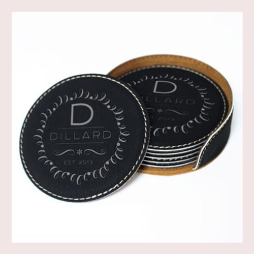 Coaster Leather Round CD027