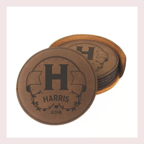 Coaster Leather Round CD028