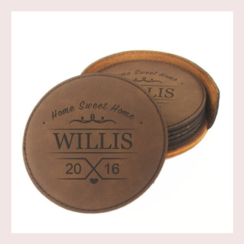 Coaster Leather Round CD035
