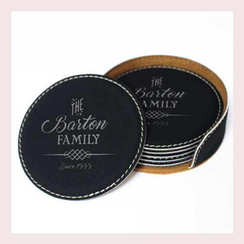 Coaster Leather Round CD037