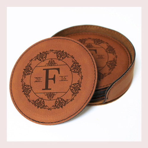 Coaster Leather Round CD039