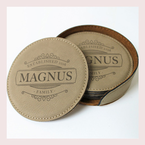 Coaster Leather Round CD041
