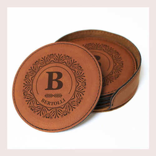 Coaster Leather Round CD042