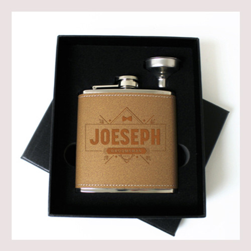 Engraved 6 oz Wedding Flask Small Set FD053
