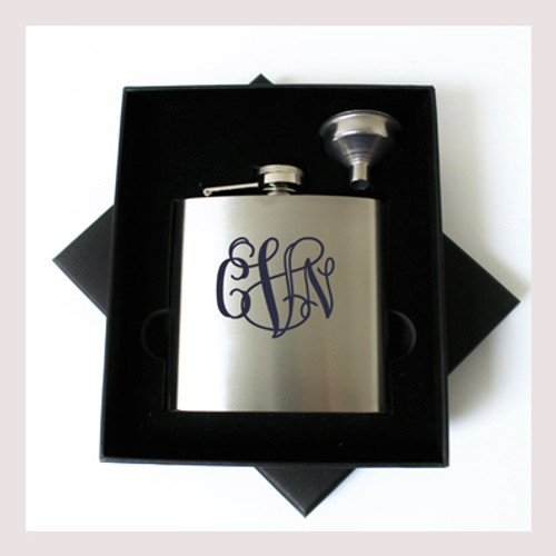Engraved 6 oz Wedding Flask Small Set FD055