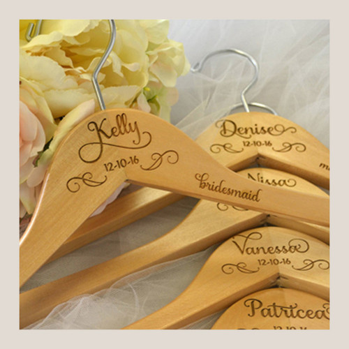 Personalized Bridal Hangers Set