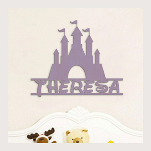 Disney Castle, Princess Name Sign, Personalized Castle, Nursery Decor