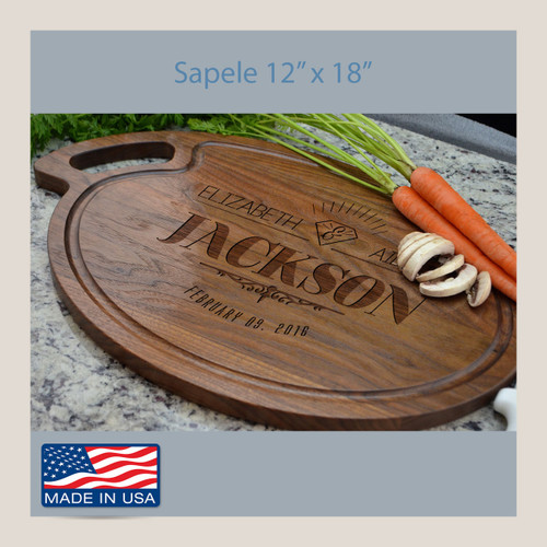 Personalized Cutting Board Wedding Oval