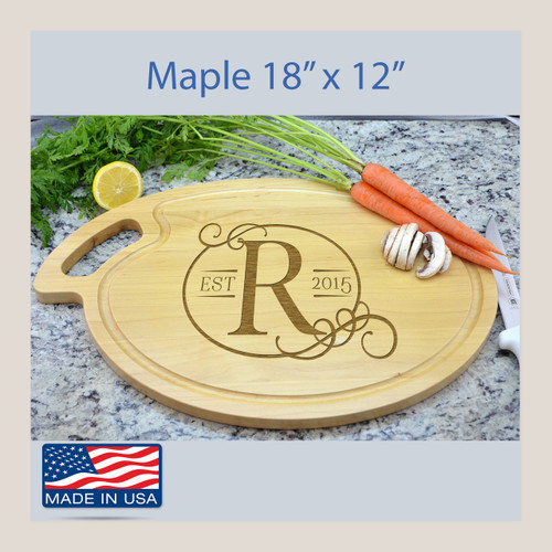 Engraved Custom Cutting Board Oval