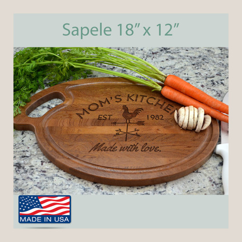 Personalized Engraved Cutting Board Oval