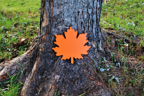 "Our Maple leaves are available from 8""-30"".  You may choose to purchase them unpainted or in the color of your choice."