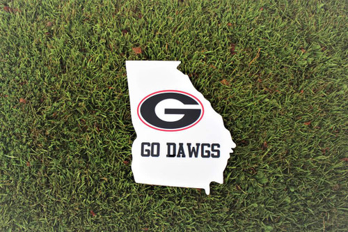 GO DAWGS!!  This unique Bulldogs sign will definitely stand out in you fan cave!
