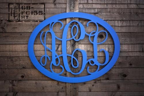 Three Letter Monogram Door Hanger