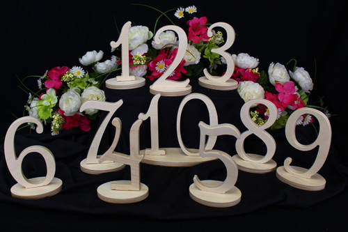 Wedding Table Number Sets