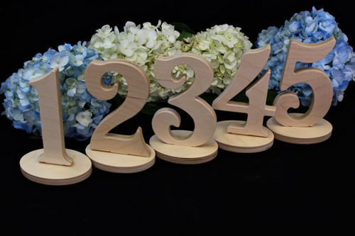 Wedding Table Number Sets, Style TN012