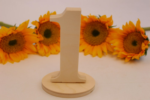 Wedding Table Number Sets, Style TN011
