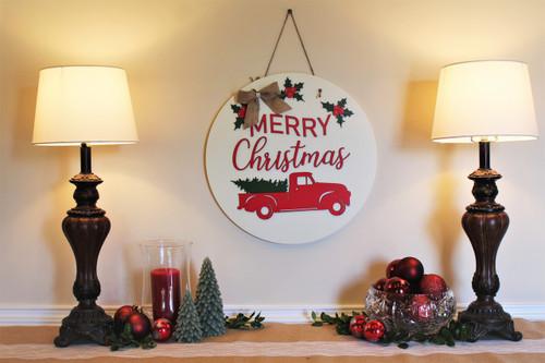 Christmas Wall  Decor, Truck & Tree