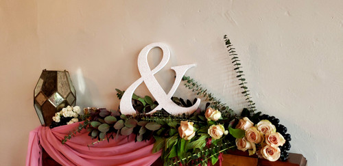 """&"" Ampersand for Wedding Decor and Photo Prop"