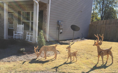 Set of 3 Unpainted Reindeer, LOCAL PICK-UP ONLY *Showroom in Winder, Georgia*
