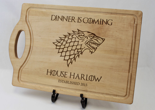 Game of Thrones, Dinner is coming, Custom cutting board