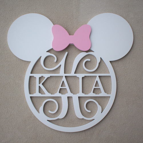 Mini Mouse Frame with Name and Initial