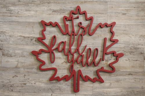 It's Fall Y'all in Leaf Frame