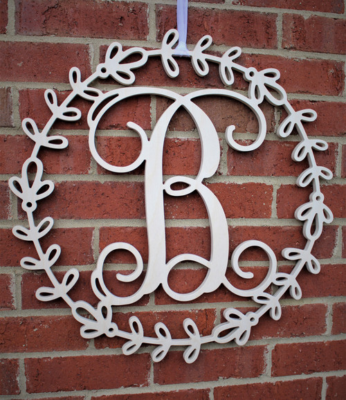 Elegant Border with Single Letter Monogram