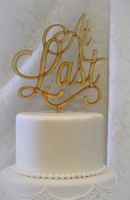 """At Last"" Cake Toppers"