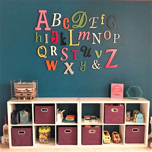 Wooden Alphabet Letters, Style 014